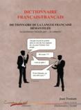 Jean Tronson - Dictionnaire français/français - Dictionnaire de la langue française démantelée.