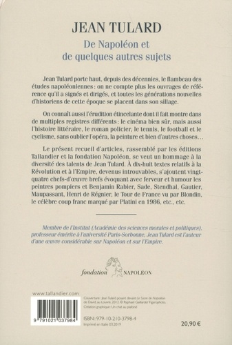 De Napoléon et quelques autres sujets. Chroniques
