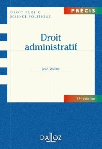 Droit administratif 23e édition