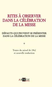 Jean xxiii Bienheureux - Rites à observer dans la célébration de la messe - Défauts qui peuvent se présenter dans la célébration de la messe.