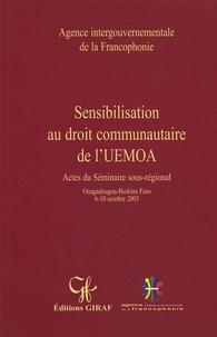 Jean-Yado Toé - Sensibilisation au droit communautaire de l'UEMOA.
