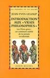 """Jean-Yves Leloup et Jean-Yves Leloup - Introduction aux """"vrais philosophes""""."""