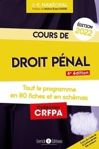 Jean-Yves Maréchal - Cours de droit pénal - Tout le programme en 80 fiches.