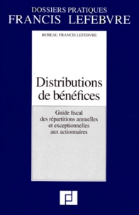 DISTRIBUTIONS DE BENEFICES. Guide fiscal des répartitions annuelles et exceptionnelles aux actionnaires.pdf