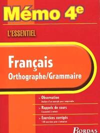 Livre Pdf Francais Orthographe Grammaire 4eme L Essentiel