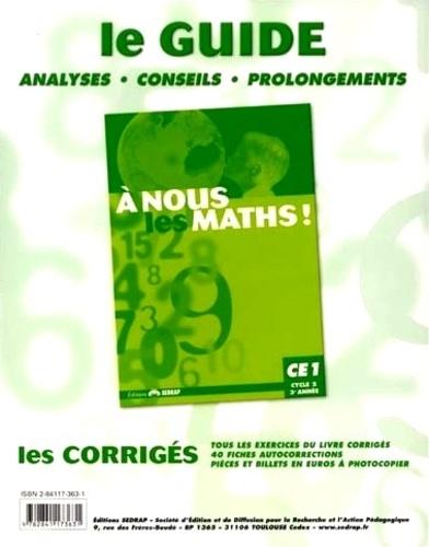 Jeanine Duverneuil et Isabelle Tauzin - A nous les maths ! CE1, cycle 2, 3e année Classeur-guide - Livre du maître.
