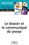 Jeanne Bordeau - Le dossier et le communiqué de presse.