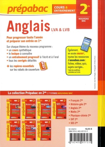 Anglais 2de. LV1 - LV2  Edition 2019