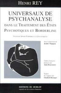 Universaux de psychanalyse dans le traitement des états psychotiques et borderline. Facteurs spatio-temporels et linguistiques.pdf