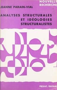 Jeanne Parain-Vial et Georges Hahn - Analyses structurales et idéologies structuralistes.