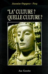 Jeannine Orgogozo-Facq - .