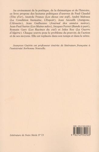 Littérature du politique au XXe siècle. De Paul Claudel à Jules Roy