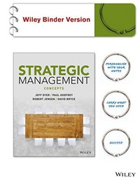 Jeff Dyer et Paul Godfrey - Strategic Management Concepts - Wiley Binder Version.