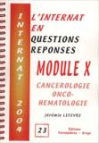 Jérémie Lefèvre - Module X - Cancérologie, onco-hématologie.