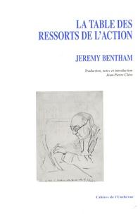 Jeremy Bentham - La table de ressorts de l'action.