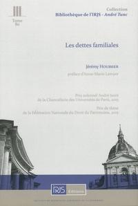 Jérémy Houssier - Les dettes familiales.