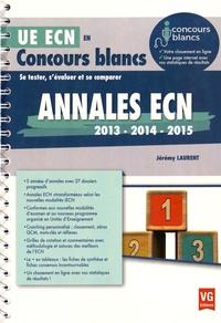 Annales ECN 2013 - 2014 - 2015 - Jérémy Laurent pdf epub