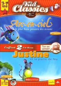 Emme - Arc-en-ciel le plus beau poissson des océans ; Justine et la pierre de feu - 2 CD-ROM.