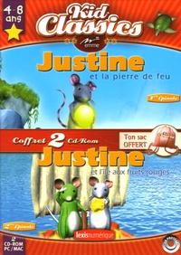 Emme - Justine et la pierre de feu ; Justine et l'île aux fruits rouges - 2 CD-ROM.