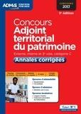 Jérôme Brunet et Camille Le Lann - Concours Adjoint territorial du patrimoine - Annales corrigées.