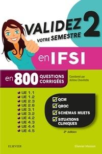 Jérôme Chevillotte et Christelle Jodar - Validez votre semestre 2 en IFSI en 800 questions corrigées.