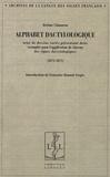 Jérôme Claramon - Alphabet dactylologique - Orné de dessins variés présentant deux exemples pour l'application de chacun des signes dactylographiques (1873-1875).