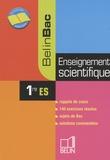 Jerôme David et Ariane Pasco - Enseignement scientifique 1e ES.