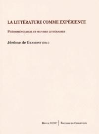 Jérôme de Gramont - La littérature comme expérience - Phénoménologie et oeuvres littéraires.