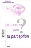 Jérôme Dokic - Qu'est-ce que la perception ?.
