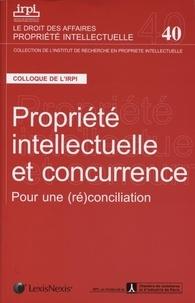 Jérôme Frantz - Propriété intellectuelle et concurrence - Pour une (ré)conciliation. Colloque organisé par l'IRPI et l'AFEC (Paris, 8 novembre 2011).