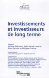 Jérôme Glachant et Jean-Hervé Lorenzi - Investissements et investisseurs de long terme (cae 91).