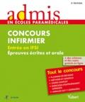 Jérôme Jean et Muriel Moutarlier - Concours Infirmier Entrée en IFSI - Epreuve écrite et orale.