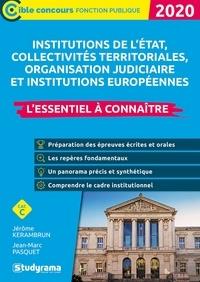 Les institutions- Etat, collectivités territoriales, protection sociale, justice, union européenne - Jérôme Kerambrun |