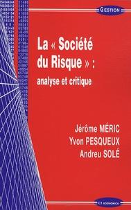 Jérôme Méric et Yvon Pesqueux - La société du risque : analyse et critique.