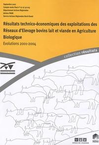 Jérôme Pavie - Résultats technico-économiques des exploitations des Réseaux d'Elevage bovins lait et viande en Agriculture Biologique - Evolution 2001-2004.