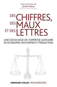 Jérôme Pélisse et Caroline Protais - Des chiffres des maux et des lettres - Une sociologie de l'expertise judiciaire en économie, psychiatrie et traduction.