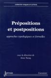 Jesse Tseng - Prépositions et postpositions - Approches typologiques et formelles.