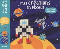 Jessica Das - Mes créations en pixel Mission spatiale - Avec 4 modèles à réaliser, 1 fiche explicative, 575 pixels, 2 porte-clés, 1 aimant, et 1 attache pour tableau.