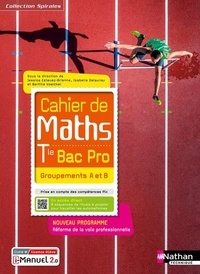Jessica Estevez-Brienne et Isabelle Delaunay - Mathématiques Tle Bac Pro Groupements A et B Cahier de Maths Spirales.