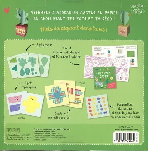 Créations en papier Jolis cactus !. Découvre 6 adorables cactus à assembler et des images à colorier !
