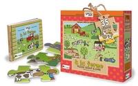Jillian Phillips - A la ferme - Puzzle géant & livre.