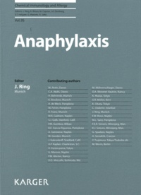 Jim Ring - Chemical immunology and allergy - Anaphylaxis.