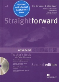 Jim Scrivener et Mike Sayer - Straightforward advanced C1 - Teacher's book with Pratice Online access. 1 DVD
