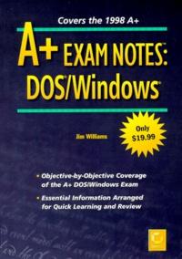 Deedr.fr A+ EXAM NOTES. DOS/Windows Image