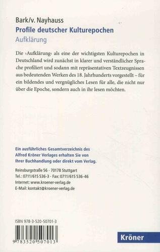 Profile deutscher Kulturepochen. Aufklärung
