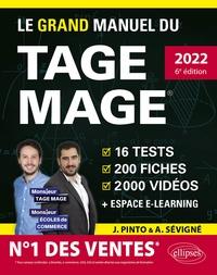 Joachim Pinto et Arnaud Sévigné - Le grand manuel du TAGE MAGE - N°1 DES VENTES – 16 tests blancs + 200 fiches de cours + 2000 vidéos.