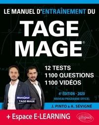 Joachim Pinto et Arnaud Sévigné - Le Manuel d'entraînement du TAGE MAGE.