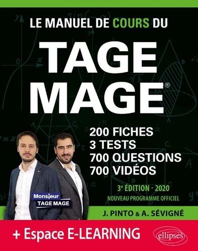 Joachim Pinto et Arnaud Sévigné - Le Manuel de Cours du TAGE MAGE.