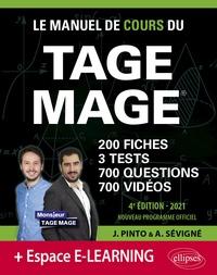Joachim Pinto et Arnaud Sévigné - Le Manuel de Cours du TAGE MAGE - 200 fiches, 3 tests, 700 questions, 700 vidéos de cours.