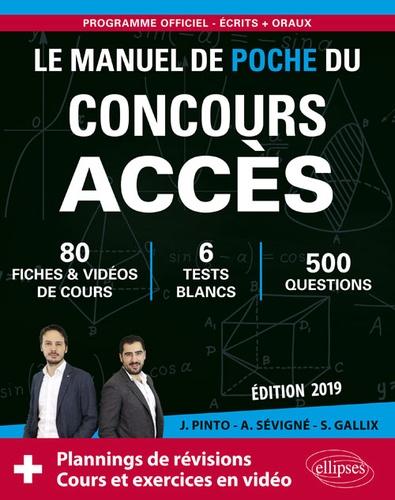 Joachim Pinto et Arnaud Sévigné - Le manuel de poche du concours Accès.